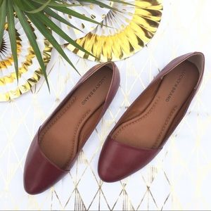 Lucky Brand Burgundy Leather Flats